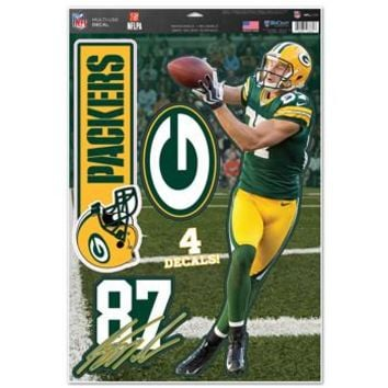 """Green Bay Packers Jordy Nelson 11""""x17"""" Multi-Use Decal Sheet"""
