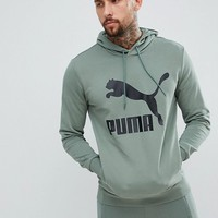 Puma Essentials Pullover Hoodie In Green 57679023 at asos.com