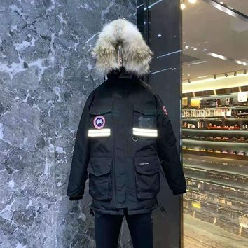 Canada Goose Expedition Parka Men Outwear Down Jackets - Best Deal Online(Wolf hair collar)