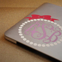 Monogram Pearl Decal for Car/Laptop/Phone/Tablet/Notebook