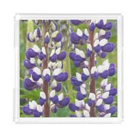 Lupine Floral Square Perfume Trays Square Serving Trays