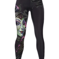 Women's Fashion Slim Sports GYM Yoga Soft Sexy Purple Print Leggings (Size: M) = 1933293828