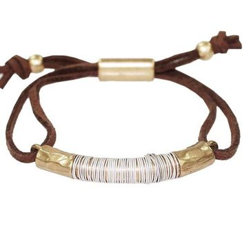 Suede and Metal Bracelet