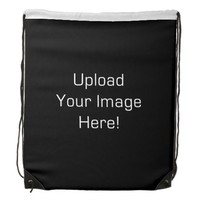 Create-Your-Own Photo Upload Drawstring Backpack