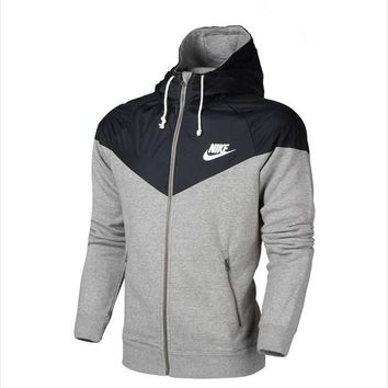 """NIKE"" Men/Women Winter Hooded Zipper Cardigan Jacket Coat"