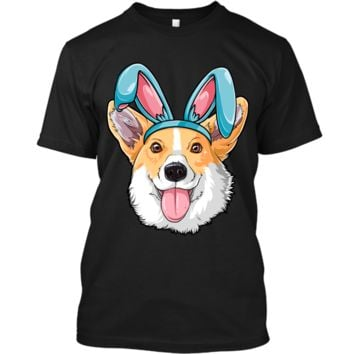 Easter Bunny Corgi T shirt Dog Boys Girl Kids Men Women Tee Custom Ultra Cotton