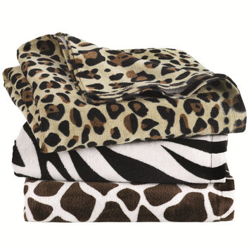 Carmel Towel Company - Animal Print Velour Beach Towel - 3060A
