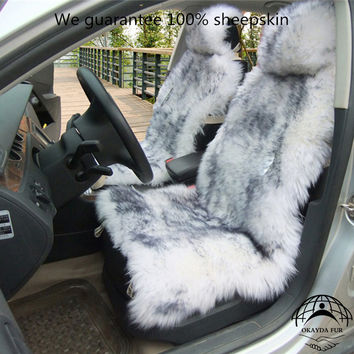 1 piece Australia sheepskin car seat covers real fur car interior accessories cushion styling winter new plush car seat cover