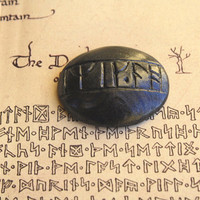 Hand clayed Rune Stone Talisman Jewellery Polymer Clay Hand-Made Come Back Stone