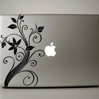 """Floral Decal - Macbook Pro Retina AIr Decal available for laptops in (11"""" 13"""" 15"""" 17"""")"""