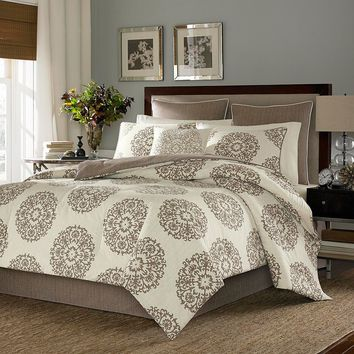Stone Cottage Medallion 3-pc. Duvet Cover Set (Brown)