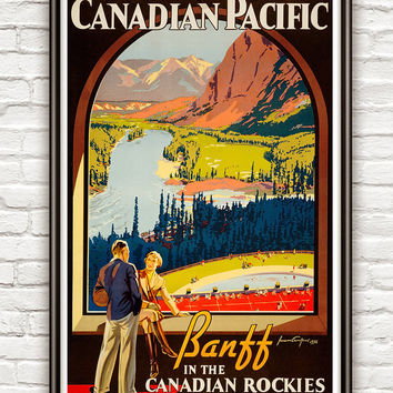 Vintage Poster of  Canadian Pacific 1936 Tourism poster travel