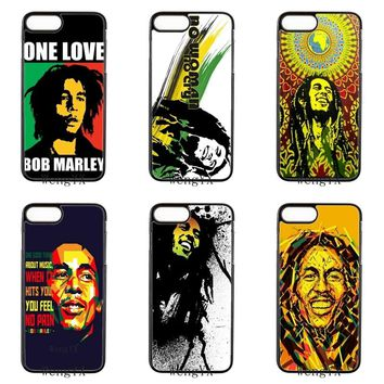 Bob Marley black hard cover case For ipod touch iPhone 4 4s 5 5s 5c SE 6 6s plus 7 7plus 8 8plus X phone case