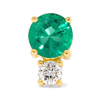 Jemma Wynne - 18-karat gold, emerald and diamond earring