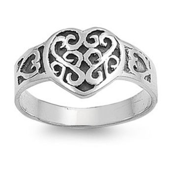 925 Sterling Silver Wiccan Love Magic Filigree Ring