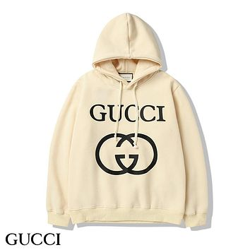 GUCCI Woman Men Fashion Print Top Sweater Pullover Hoodie