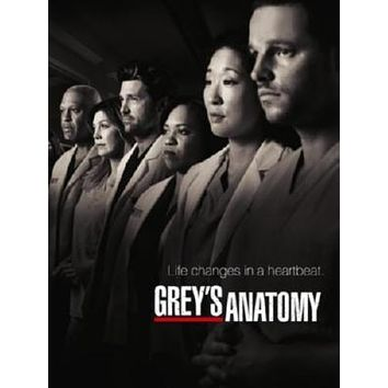 Greys Anatomy poster Metal Sign Wall Art 8in x 12in
