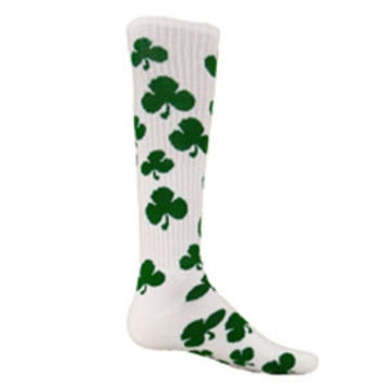 Red Lion Shamrock Knee Hi Socks