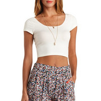 DOUBLE SCOOP COTTON CROP TOP