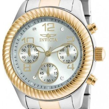 Invicta Angel Chronograph Silver Dial Two-tone Ladies Watch 20268