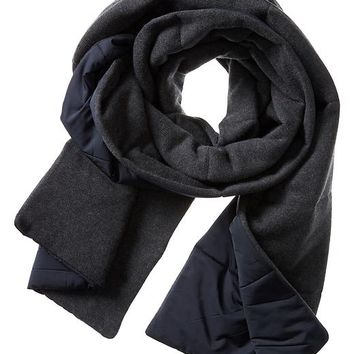 Banana Republic Mens Quilted Primaloft Scarf Size One Size - Navy