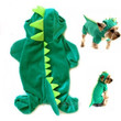 Dinosaur Hoodie Pet Dog Costume Clothes Pet Coat Sweater Green