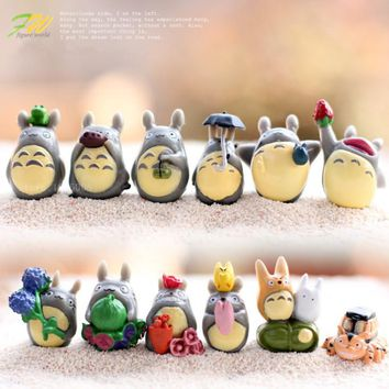 (12pcs/lot) my neighbor Totoro figure gifts doll resin miniature figurines Toys 1-3cm PVC plactic japanese cute anime151210