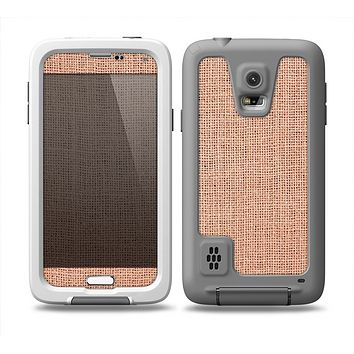 The Woven Burlap Skin for the Samsung Galaxy S5 frē LifeProof Case