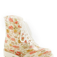 ModCloth Vintage Inspired Lost in Spot Rain Boot in Floral