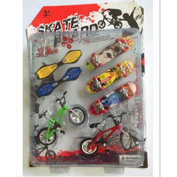 Funny Bicycle Finger Skateboard Toys for Children,Mini Fingerboards Finger Bike Toys Birthday/New Year Gifts for Children/Adults