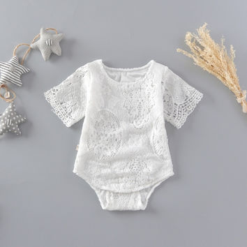 Newborn Baby Bodysuit Infantil Baby Girl Lace Summer Bodysuit Baby Hollow Bodysuit Baby Clothes