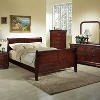 Lifestyle B5933 Queen Cherry Sleigh Bedroom Set