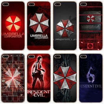 G237 Resident Evil Umbrella Transparent Hard Thin Case Cover For Apple iPhone XR XS Max 4 4S 5 5S SE 5C 6 6S 7 8 X Plus
