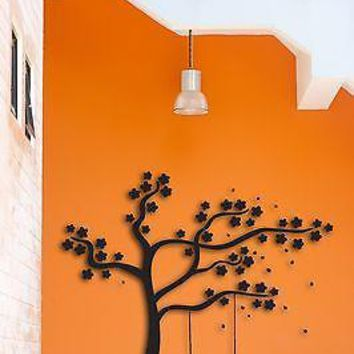 Wall Sticker Tree Swings Birds Nice Decor For Bedroom Or Living Room  Unique Gift z1524