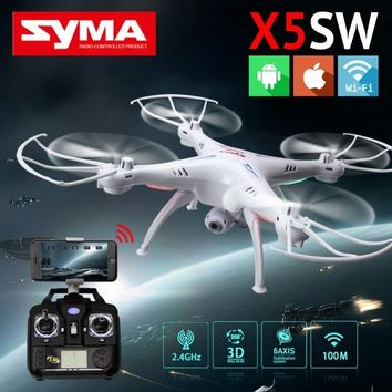Cheerwing Syma X5SW-V3 FPV 2.4Ghz 4CH 6-Axis Gyro RC Headless Quadcopter Drone UFO with HD Wifi Camera (Color:Black & White)