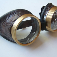 Steampunk Goggles Air Pirate Eyewear by OntheWingsofSteam on Etsy