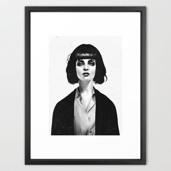 Mrs Mia Wallace Framed Art Print by Ruben Ireland | Society6