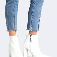 White Sleek Bootie - ZOOSHOO