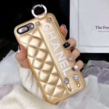 Kalete CHANEL Leather Fashion iPhone Phone Cover Case For iphone 6 6s 6plus 6s-plus 7 7plus 8 8plus X