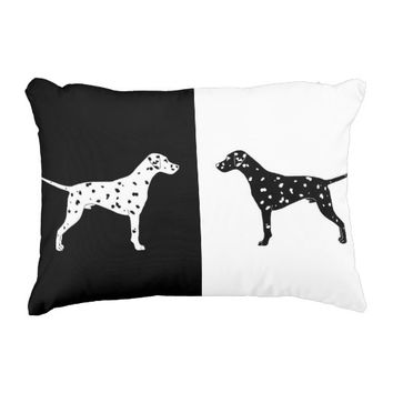 Dalmatian dog decorative pillow
