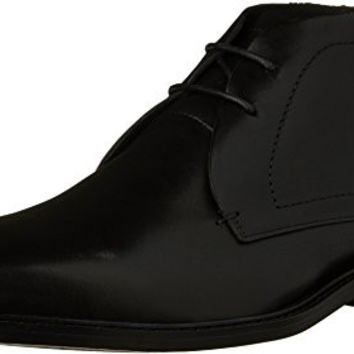 Kenneth Cole New York Men's Sum Day Chukka Boot, Black Leather, 10 M US