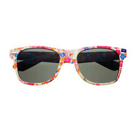 Cute Flower Floral Print Womens Wayfarer Sunglasses Shades W47