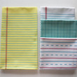 "Yellow Lined ""Paper"" Towel - Decorative Cotton Tea Towel"