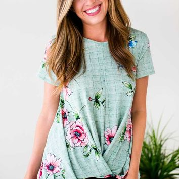 Promise Me Some Floral Surplice Style Top