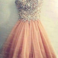 Amazing Sweetheart Rhinestone prom dress / homecoming dress/cocktail dress/evening dress/party dress