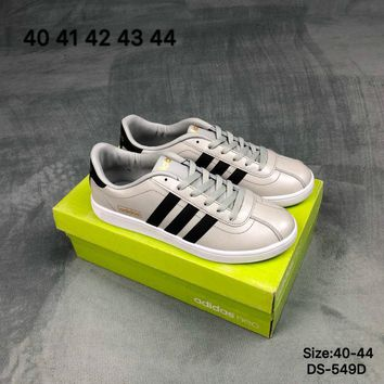 Adidas Original VLCOURT NEO Fashion Skate Shoes Green/Beige/Red 3 Colors
