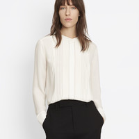 Mandarin Pleat Front Shirt
