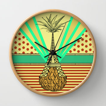 Pineapple architecture 4 : Eiffel Tower Wall Clock by AmDuf