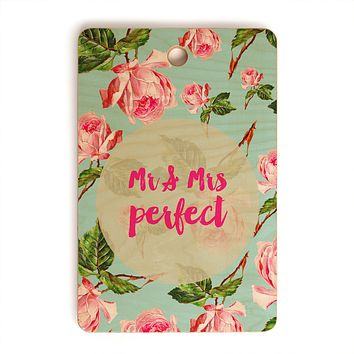 Allyson Johnson Floral Mr and Mrs Perfect Cutting Board Rectangle
