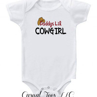 Daddys lil Cowgirl Baby Baby Bodysuit Girl Baby Bodysuit or Toddler Tee